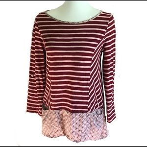 Anthropologie Postmark Striped Fairley Knit Top